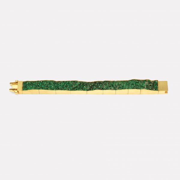 Armband, 750  Gelbgold, Uwarovit