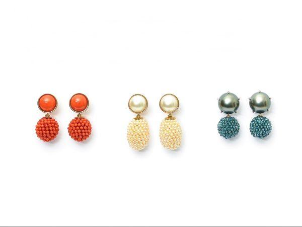Diverser Ohrschmuck, 750 Weiß-/Gelbgold, Edelsteine, Perlen und Granalien