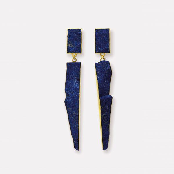 Ohrringe, 750 Gelbgold, Lapis Lazuli
