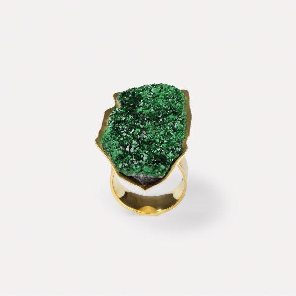 Ring, 750  Gelbgold, Uwarovit