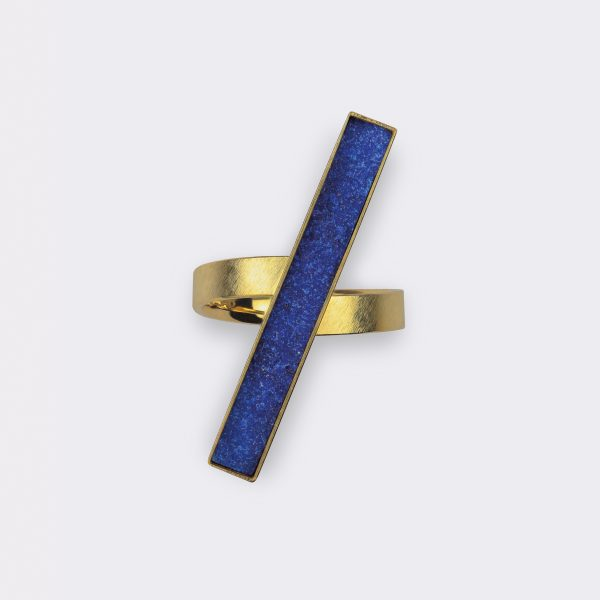 Ring, 750 Gelbgold, Lapis Lazuli