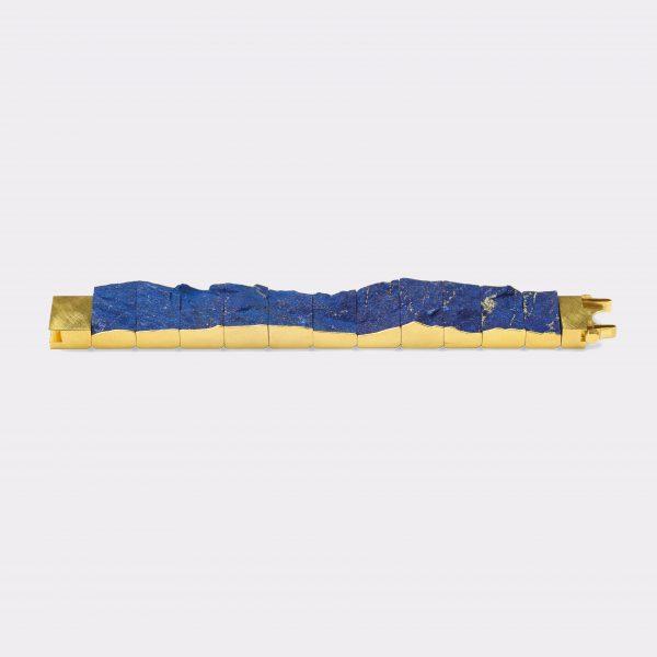 Armband, 750 Gelbgold, Lapis Lazuli