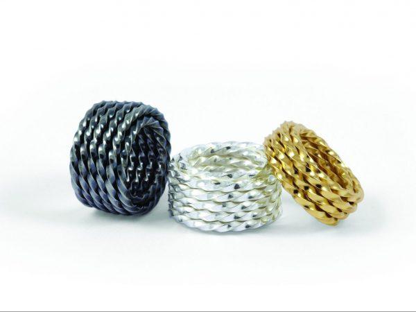 """""""PIVOT"""" Ringe in 925 Silber und 750 Gold"""