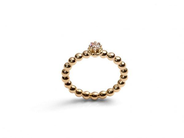 """LIBRI"" SOLITÄR Ring in 750 Gold mit Brillant"